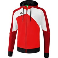Erima Premium One 2.0 Trainingsjacke mit Kapuze red/white/black XL von erima