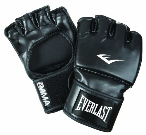 Everlast Erwachsene Boxartikel 7561 Martial Arts Open Thumb Gloves Boxhandschuhe, Black, S/M von Everlast