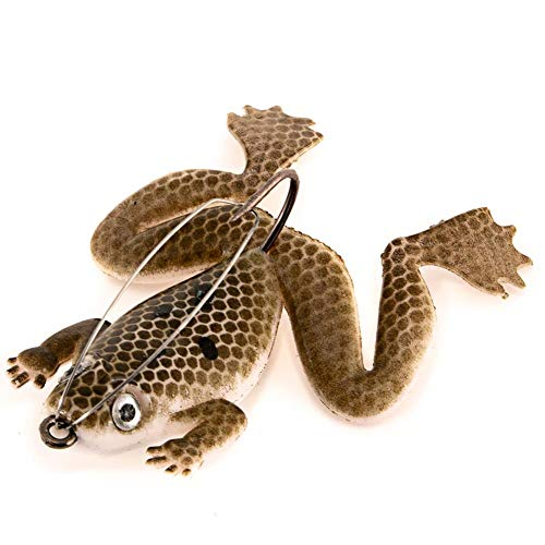 Everpert 3D Frosch Bionic Fishing Gummiköder Thunderfrog Black Fishing Bait (Brown) von Everpert