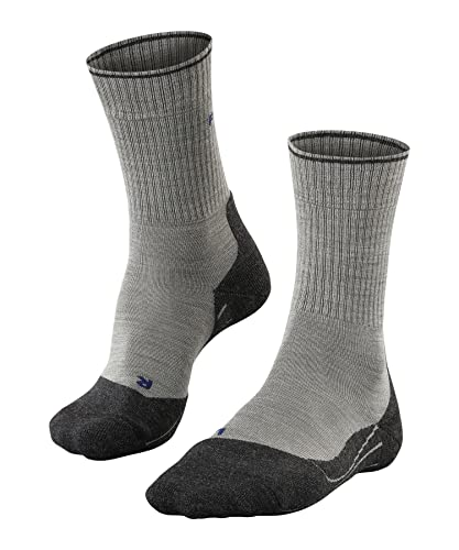 FALKE Damen TK 2 Wool Silk Women Trekkingsocken, Light Grey, 35-36 von FALKE