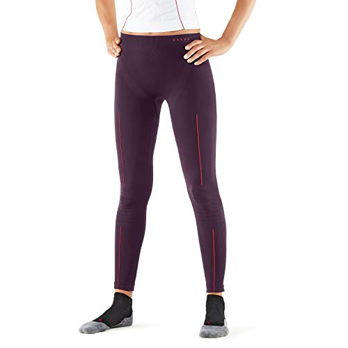 FALKE Damen Tights Long, atmungsaktive Leggings zum Skifahren, lange warme Funktionshose, 1 er Pack, dark violett, L von FALKE