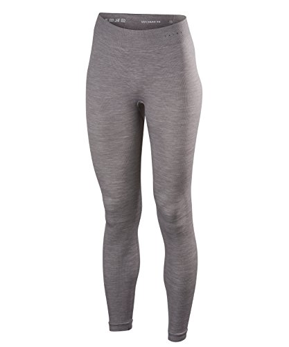FALKE Damen, Tights Wool Tech. Long Merinowollmischung, 1 er Pack, Grau (Grey-Heather 3757), L von FALKE