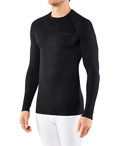 FALKE Herren Unterwäsche Maximum Warm Longsleeve Shirt Tight, Black, S von FALKE