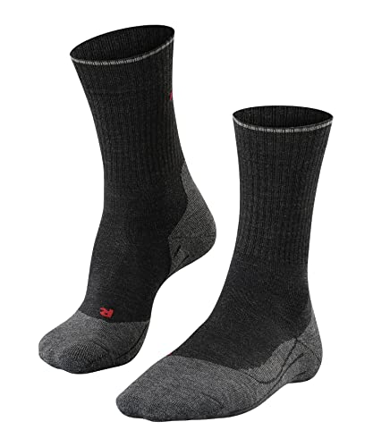 FALKE Herren TK2 Wool Silk M SO Wandersocken, Grau (Anthracite Melange 3080), 42-43 (UK 8-9 Ι US 9-10) von FALKE