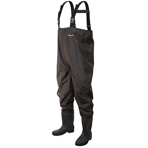 FROGG TOGGS Rana II PVC Bootfoot Chest Wader, Felt Outsole, Brown, Size 8 von FROGG TOGGS