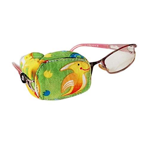 L Fancy Pumpkin Kreative Cartoon Augenklappe Einzelne Brille Abdeckung Lazy Eye Amblyopie-Behandlung f/ür Kinder rechtes Auge