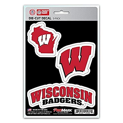 NCAA Wisconsin Badgers Team Decal, 3-Pack von FANMATS