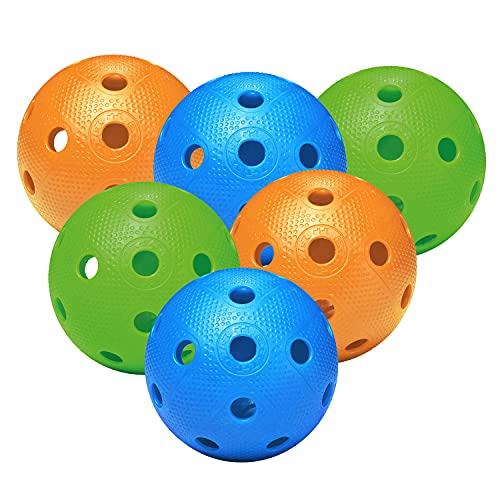 FAT PIPE Floorball / Unihockey Ball 6er Set, Color Mix von Fat Pipe