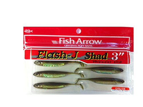 Fish Arrow Flash J Shad 3 Zoll Gummiköder, Kosan Ayu/Aurora, 80 von Fish Arrow