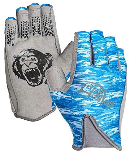 Fish Monkey FM21-BLWTRCAM-XL Pro 365 Guide Glove Blue Water Camo XL von Fish Monkey