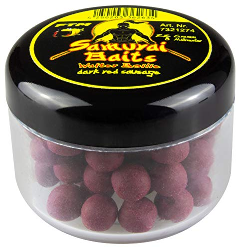 Fishing Tackle Max GmbH & Co. KG Samurai Baits Wafter Boilie - Dark Red Sausage - 8mm von Fishing Tackle Max GmbH & Co. KG