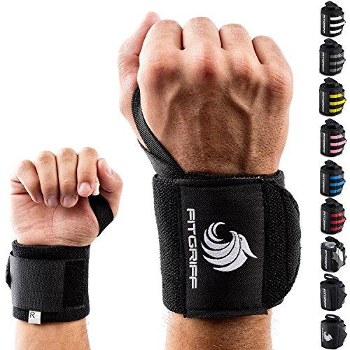 Fitgriff Handgelenk Bandagen 45 cm Handgelenkbandage fü Schwarz Wrist Wraps