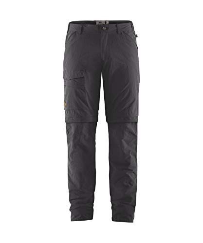 Fjallraven Herren Travellers MT Zip-Off TRS M Sport Trousers, Dark Grey, 50 von Fjallraven
