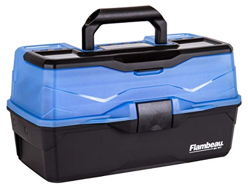 Flambeau Outdoors Flambeau Classic Angelbox mit 2 Fächern, blau, 2-Tray von Flambeau Outdoors