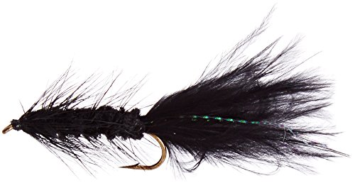 Flies Direct Wooly Bugger, Schwarz, 1 Dutzend von Flies Direct