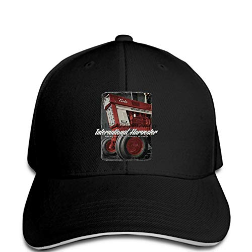 Baseball Cap Herren Baseball Cap Silber International Harvester Turbine Farm Traktor Druckmuster Hut ungerade Hut Dame von Fnito@
