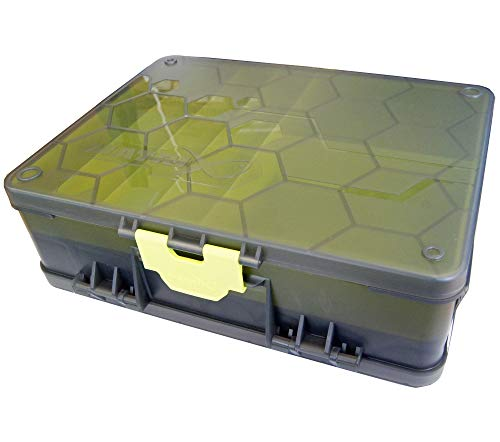 Fox Matrix Double sided Feeder & Tackle Box - Angelbox für Feederkörbe & Angelzubehör, Tacklebox für Futterkörbe, Feederbox von Fox Matrix