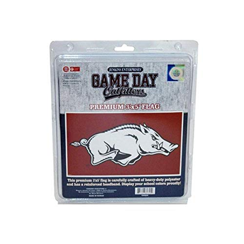 Game Day Outfitters NCAA Arkansas Razorbacks Flagge, Einheitsgröße/3 x 5, Rot von Game Day Outfitters