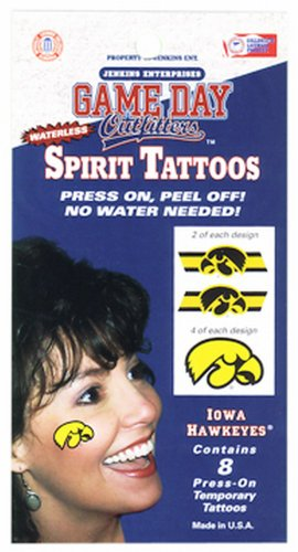 Game Day Outfitters NCAA Iowa Hawkeyes Tattoo wasserloses von Game Day Outfitters
