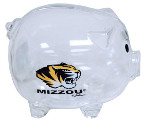 Game Day Outfitters NCAA Missouri Tigers klar Kunststoff Sparschwein von Game Day Outfitters