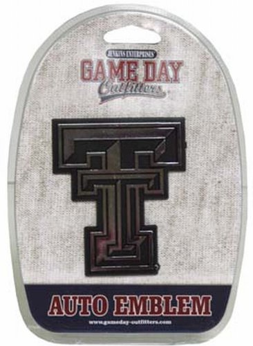 Game Day Outfitters NCAA Texas Tech Rot Raiders Auto Emblem von Game Day Outfitters