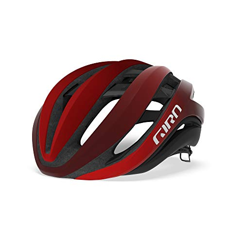 Giro Unisex – Erwachsene Aether MIPS Fahrradhelm Road, mat Bright red/Dark red/Black, Small/51-55 cm von Giro