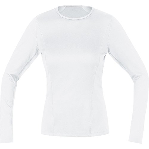 GORE Wear Atmungsaktives Damen Thermo-Unterzieh-Shirt, GORE M Women Base Layer Thermo Long Sleeve Shirt, 42, Weiß, 100315 von GORE WEAR
