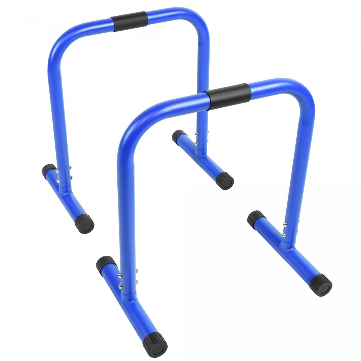 Push-up Stand Bar Parallettes Blau von Gorilla Sports
