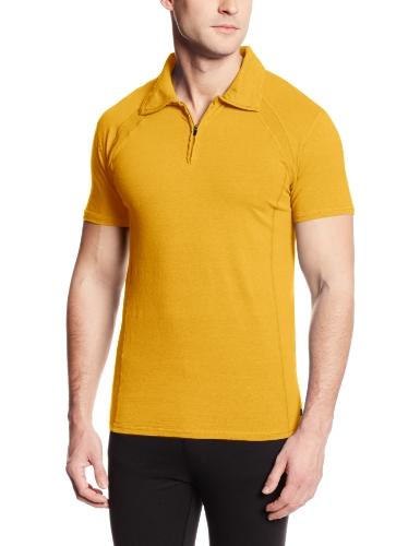Gramicci Herren Austin Performance Polo Shirt, Herren, Sunset Yellow von Gramicci