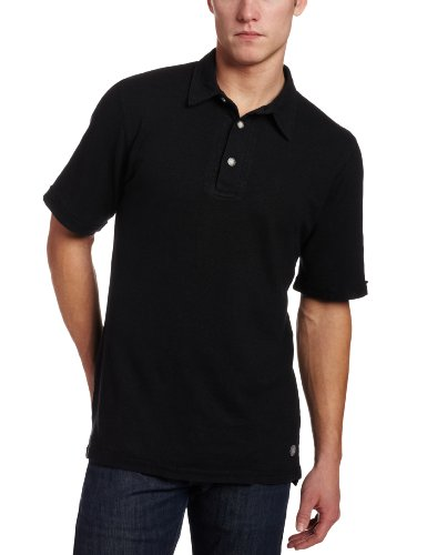 Gramicci Herren Tirreno Polo T-Shirt Medium Jet Black von Gramicci