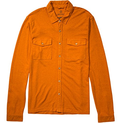 gramicci Herren Tirol Button- Shirt Größe L Harvest Orange von Gramicci