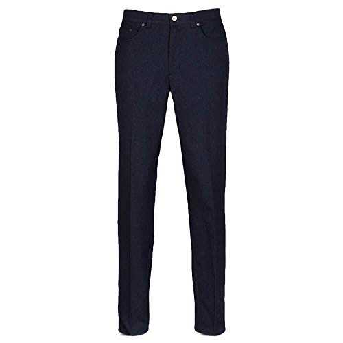 "Greg Norman Herren Sable Five-Pocket Heathered Pant Hosen, Dark Night Heather, W x L: 32"" von Greg Norman"