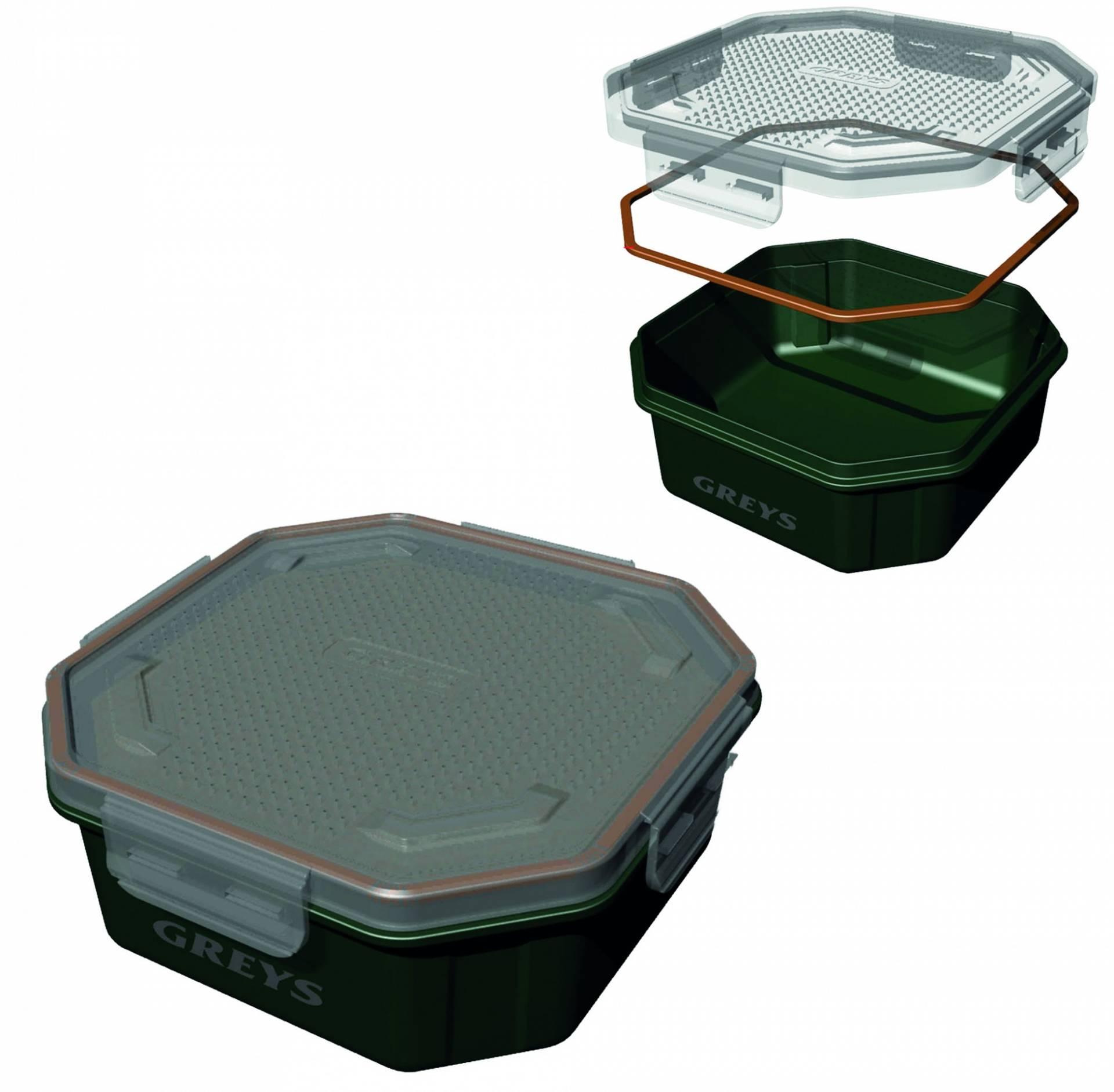 1 96l Wurmdose Wurmbox Köderbox Baitbox Madendose Madenbox Greys Prodigy Klip-Lok Flip Top Perforated Köderbox 3 4pt