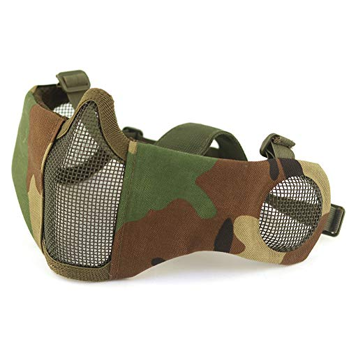 H World EU Integrated Tactical Airsoft Painball Full Face Googles Piloteer Protective Helmet with Removable Face Shield (MC, M/L) von H World EU