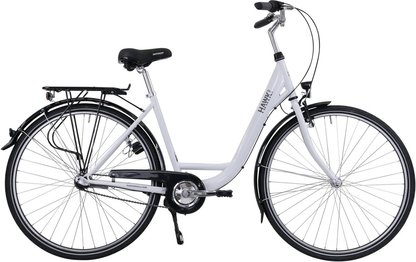 HAWK Bikes Cityrad »HAWK City Wave Premium White«, 3 Gang Shimano Nexus Schaltwerk von HAWK Bikes