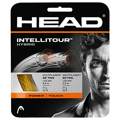 HEAD Unisex-Erwachsene Intellitour Set Tennis-Saite, Natural, 16 von HEAD