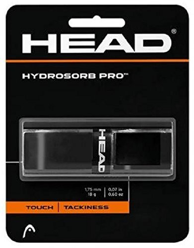 Head - Basis-Griffband Hydrosorb Pro - Touch Tackiness - schwarz - 1 Stück - optimale Schweiß-Absorption, extra griffige Elastomer-Oberfläche von HEAD