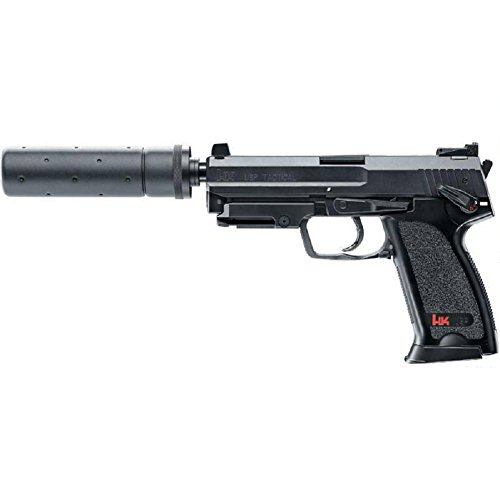 Heckler & Koch Softair USP Tactical mit Maximum 0.5 Joule Airsoft Pistole, Schwarz, One Size von HECKLER & KOCH