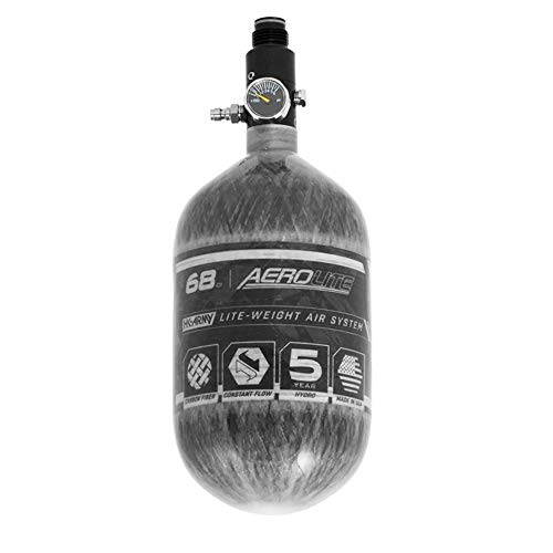 HK Army Aerolite HPA Paintball Tank Air System – 68ci/4500psi, Clear Carbon von HK Army