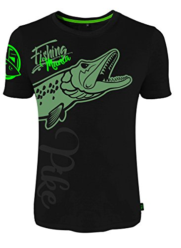 HOTSPOT DESIGN T-Shirt Fishing Mania Pike Gr. XL von HOTSPOT DESIGN