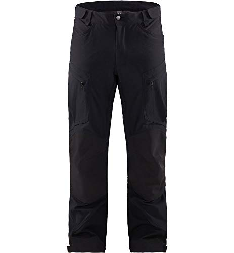 Haglöfs Wanderhose Herren Wanderhose Rugged Mountain Pant Men Atmungsaktiv, Wasserdicht Extra Small True Black Solid S S - Empty for carryovers - von Haglöfs