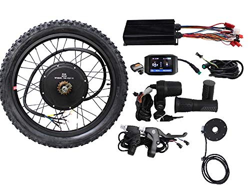 "HalloMotor 36V 48V 1000W 20"" 24"" 26"" 27.5"" 28"" 29er 700C Rear Wheel ebike Electric Bicycle Conversion Kits with 750C Colour Display (26 Inch) von HalloMotor"