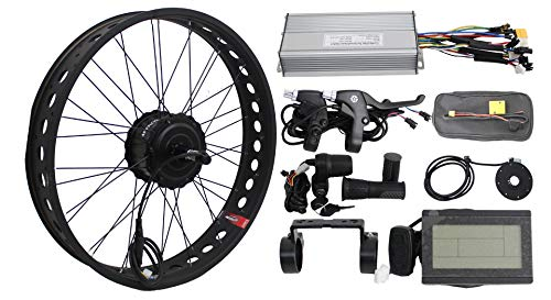 "HalloMotor BAFANG 36V 250W Freehub Fat Tire Cassette Rear Wheel 190mm Ebike Conversion 20"" 24"" 26"" Kits with KT Display and Controller for fatbike (26 Zoll) von HalloMotor"