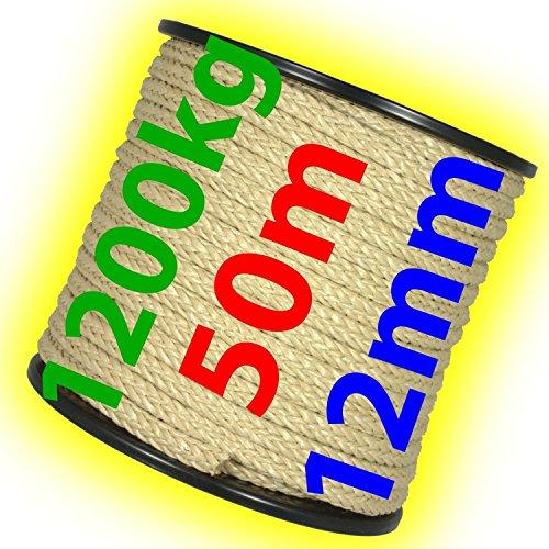 Handelsminister.com 30m Kunststoffseil 14mm 1800kg gr/ün beige blau schwimmf/ähig Polyprolylen PP-Seil Seil Tau salzwasserbest/ändig