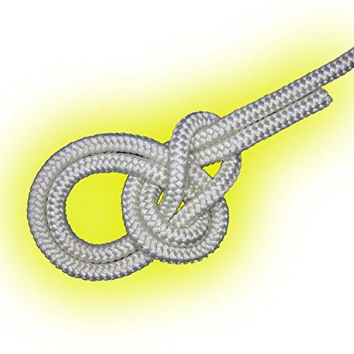 14mm Leine PES-Seil Festmacher 3430kg 5m weiß Polyester geflochten Tau Tauwerk