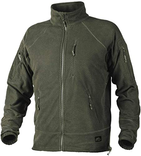 Helikon-Tex Boys Alpha Tactical-Grid Fleece-Jacke Green, Olive GRÜN, M/Regular von Helikon-Tex