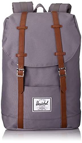 Herschel Retreat Classics Rucksack Unisex, Grey/Tan Synthetic Leather Backpack, Einheitsgröße von Herschel
