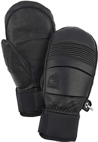 Hestra Leather Fall Line - Short Freeride Snow Mitten with Superior Grip for Skiing and Mountaineering - Black - 9 von HESTRA