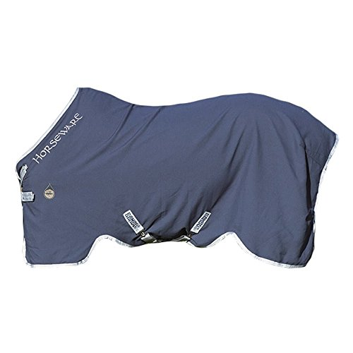 "Horseware Rambo Helix Stable Sheet with Disc Closure 6-6"" Navy/Silver von Horseware"