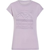 Houdini Damen Big Up Message T-Shirt (Größe M, Lila) von Houdini